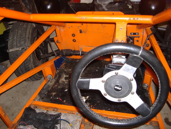 The road legal buggy with pedal box removed
