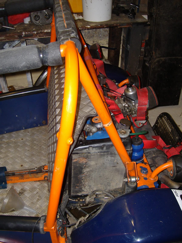 Danny buggy with fire extinguisher fuel tank removed