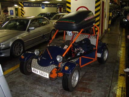 Freestyle buggy on the ferry