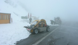 Freestyle Road Buggies Playing In The Alps