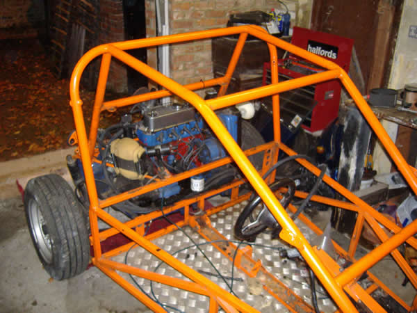 The back of the buggy with pretty buch just the engine to remove