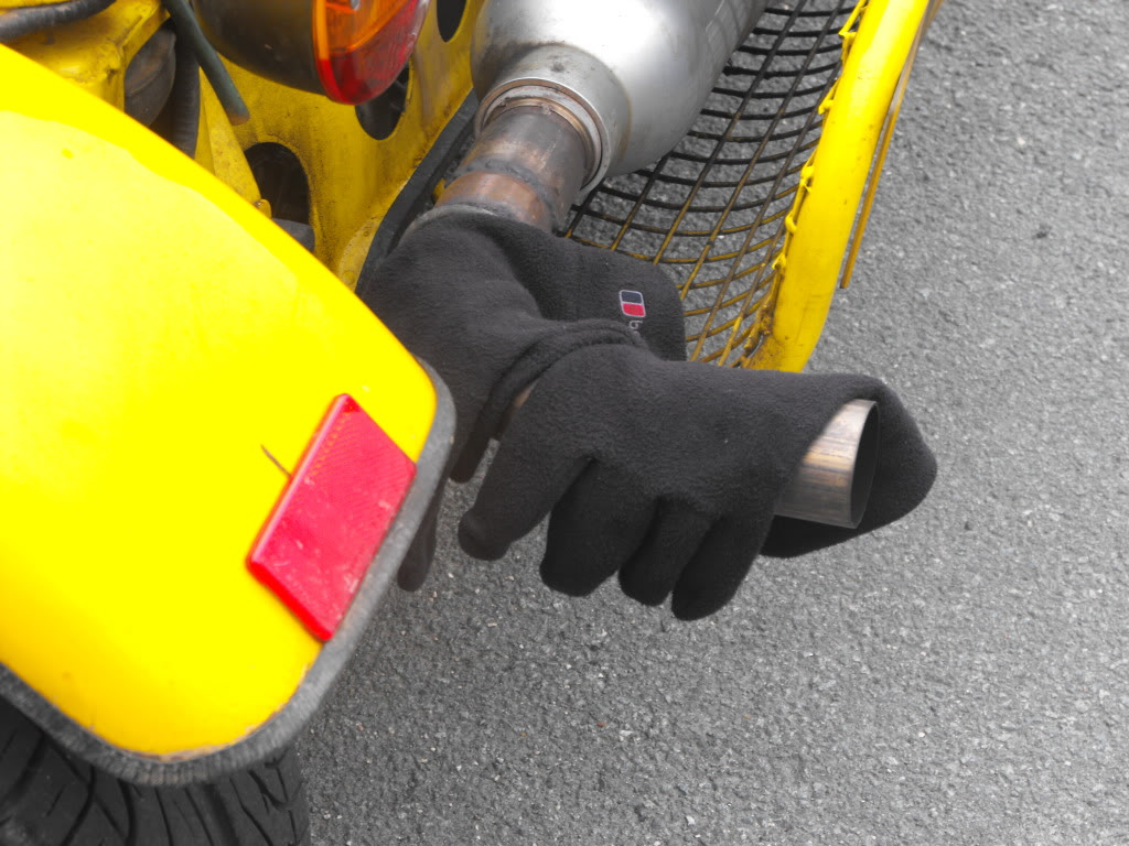 Drying Gloves In A Freestyle Buggy